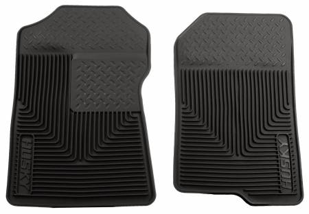 Husky Liners - Husky Liners 98-02 Ford Expedition/F-150/Lincoln Navigator Heavy Duty Black Front Floor Mats