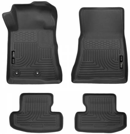 Husky Liners - Husky Liners 2015 Ford Mustang WeatherBeater Black Front & Second Seat Floor Liner