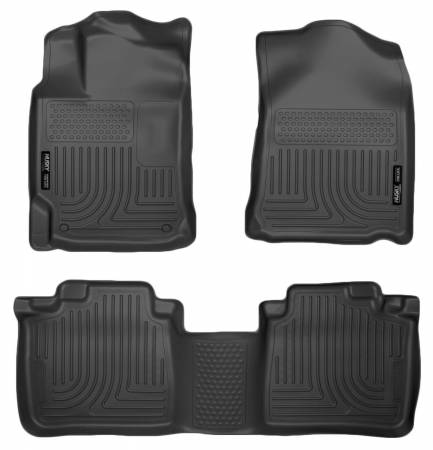 Husky Liners - Husky Liners 10-13 Lexus RX350/RX450h WeatherBeater Black Front & 2nd Seat Floor Liners