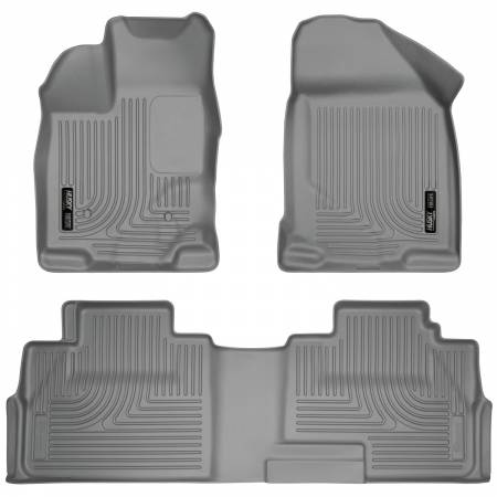 Husky Liners - Husky Liners 07-13 Ford Edge / 07-13 Lincoln MKX Weatherbeater Grey Front & 2nd Seat Floor Liners