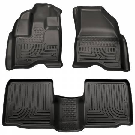 Husky Liners - Husky Liners 11-12 Ford Explorer WeatherBeater Combo Black Floor Liners