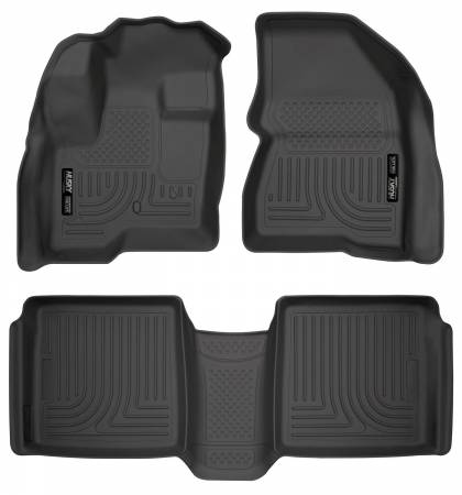 Husky Liners - Husky Liners 09-12 Ford Flex/10-12 Lincoln MKT WeatherBeater Combo Black Floor Liners