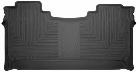 Husky Liners - Husky Liners 2019 Ram 1500 Crew Cab WeatherBeater Black Second Row Floor Liners