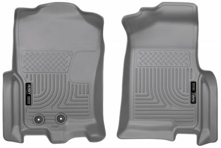 Husky Liners - Husky Liners 2015 Ford Expedition/Lincoln Navigator WeatherBeater Front Grey Floor Liners