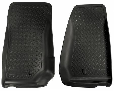 Husky Liners - Husky Liners 07-12 Jeep Wrangler (Base/Unlimited) Classic Style Black Floor Liners