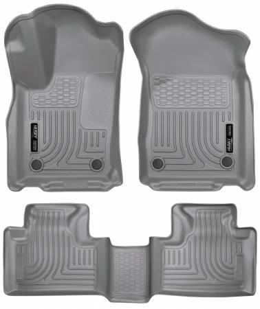 Husky Liners - Husky Liners 16 Dodge Durango/Jeep Grand Cherokee Weatherbeater Grey Front & 2nd Seat Floor Liners