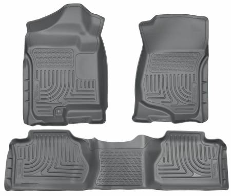 Husky Liners - Husky Liners 07-12 Chevy Silverado/GMC Sierra Extended Cab WeatherBeater Combo Gray Floor Liners