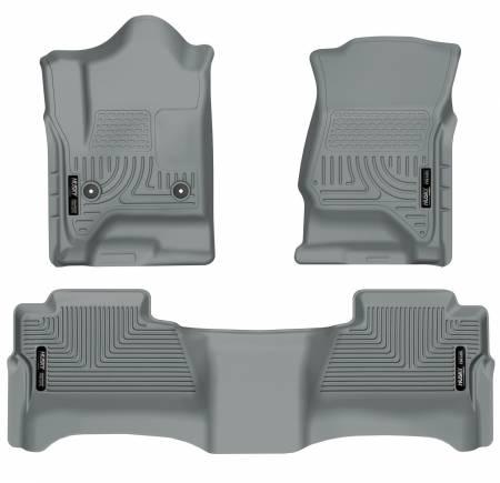 Husky Liners - Husky Liners 14 Chevrolet Silverado/GMC Sierra WeatherBeater Grey Front & 2nd Seat Floor Liners
