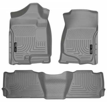 Husky Liners - Husky Liners 07-13 GM Escalade ESV/Avalanche/Suburban WeatherBeater Gray Front/2nd Row Floor Liners
