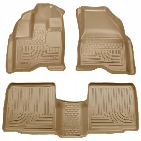 Husky Liners - Husky Liners 09-13 Lincoln MKS WeatherBeater Combo Tan Floor Liners