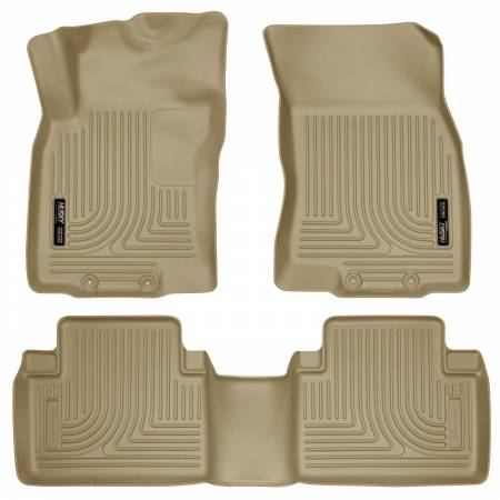 Husky Liners - Husky Liners WeatherBeater 14 Nissan Rogue Front & Second Row Tan Floor Liners