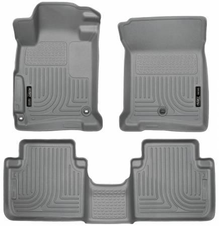 Husky Liners - Husky Liners 2013 Honda Accord WeatherBeater Grey Front & 2nd Seat Floor Liners (4-Door Sedan Only)