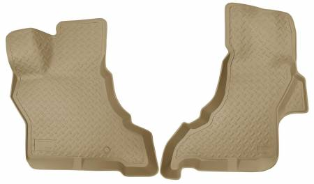 Husky Liners - Husky Liners 97-12 Chevrolet Econoline Full Size Classic Style Tan Floor Liners
