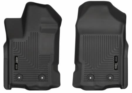 Husky Liners - Husky Liners 2019 Ford Ranger SuperCrew Cab & SuperCab WeatherBeater Black Floor Liners