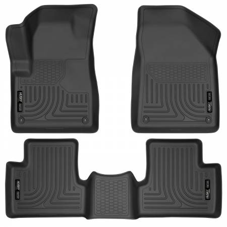 Husky Liners - Husky Liners 14 Jeep Cherokee WeatherBeater Black Front and Second Seat Floor Liners