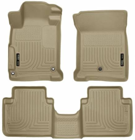 Husky Liners - Husky Liners 2013 Honda Accord WeatherBeater Tan Front & 2nd Seat Floor Liners (4-Door Sedan Only)
