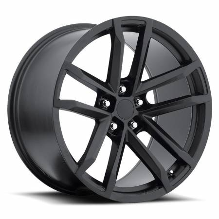 Factory Reproductions Wheels - FR Series 41 Replica Camaro Wheel 20X9 5X120 ET27 66.9CB Satin Black