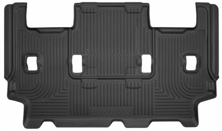 Husky Liners - Husky Liners 07-10 Ford Expedition/Lincoln Navigator WeatherBeater 3rd Row Black Floor Liner