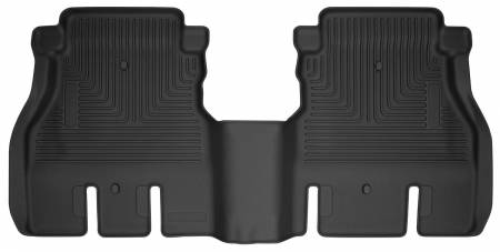 Husky Liners - Husky Liners 2018 Jeep Wrangler 4 Door WeatherBeater Second Row Black Floor Liners