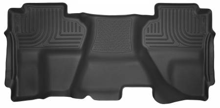Husky Liners - Husky Liners 14-15 Chevy Silverado Double Cab X-Act Contour Black 2nd Row Floor Liners