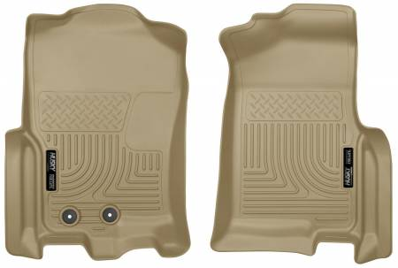 Husky Liners - Husky Liners 2015 Ford Expedition/Lincoln Navigator WeatherBeater Front Tan Floor Liners