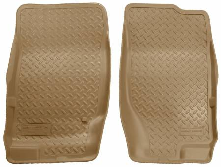 Husky Liners - Husky Liners 02-09 Ford Explorer/03-05 Lincoln Aviator Classic Style Tan Floor Liners