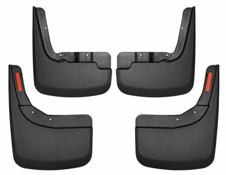 Husky Liners - Husky Liners 2019 Chevrolet Silverado 1500 Front and Rear Mud Guards - Black