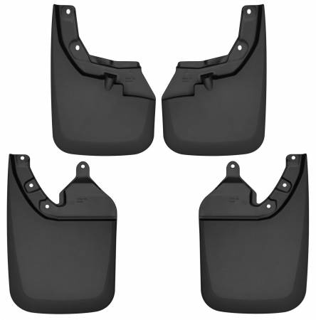 Husky Liners - Husky Liners 2016-2017 Toyota Tacoma w/ OE Fender Flares Front and Rear Mud Guards - Black