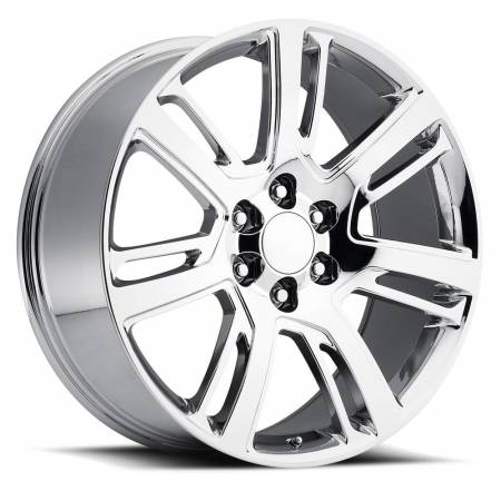 Factory Reproductions Wheels - FR Series 48 Replica Escalade Wheel 24X10 6X5.5 ET31 78.1CB Chrome