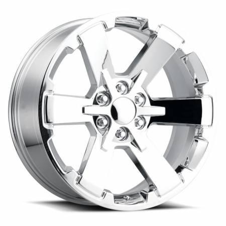 Factory Reproductions Wheels - FR Series 45 Replica 6 Star Wheel 24X10 6X5.5 ET30 78.1CB Chrome