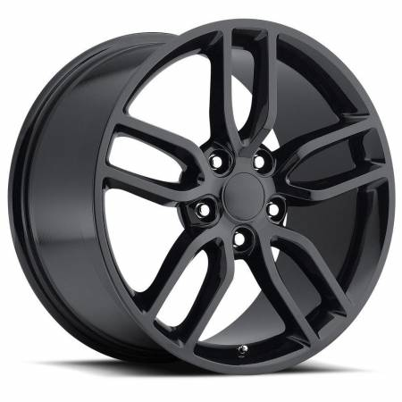 Factory Reproductions Wheels - FR Series 26 Replica C7 Corvette Wheel 18X8.5 5X4.75 ET56 70.3CB Gloss Black