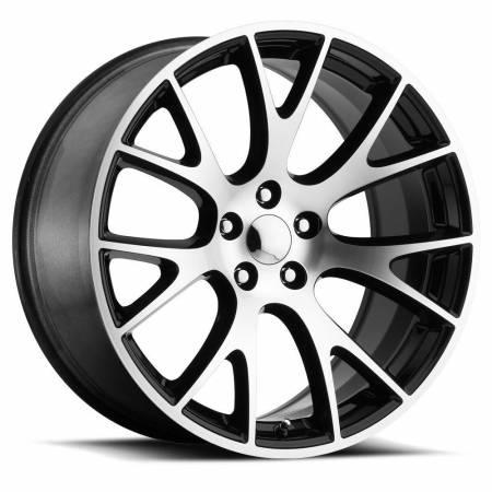 Factory Reproductions Wheels - FR Series 70 Replica Hellcat Wheel 20X10.5 5X115 ET25 71.5CB Gloss Black Machine Face