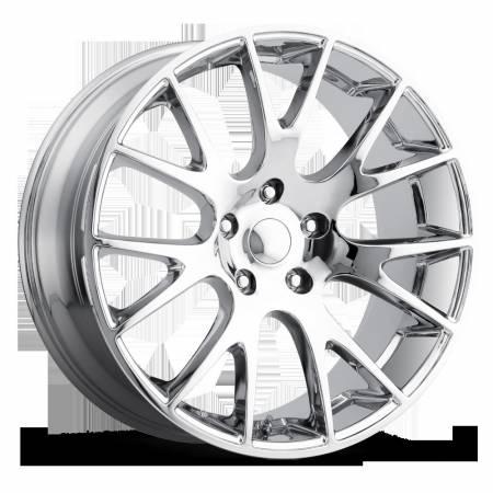 Factory Reproductions Wheels - FR Series 70 Replica Hellcat Wheel 20X9 5X5 ET30 71.5CB Chrome