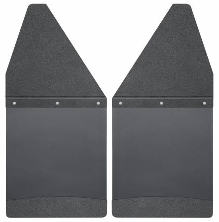 Husky Liners - Husky Liners GM 99-16 Silverado/Sierra 12in W Black Top & Weight Kick Back Front Mud Flaps