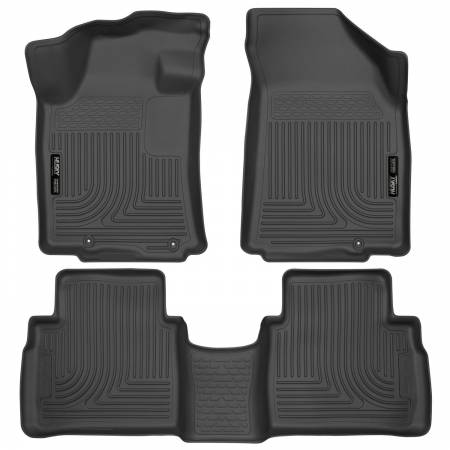 Husky Liners - Husky Liners 2016 Nissan Maxima WeatherBeater Front and Second Row Black Floor Liners