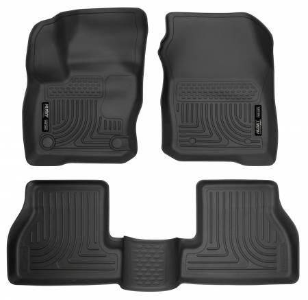 Husky Liners - Husky Liners 2016 Ford Focus Weatherbeater Front and 2nd Seat Floor Liners - Black