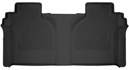 Husky Liners - Husky Liners 2019 Chevy Silverado 1500 CC X-Act Contour Black 2nd Seat Floor Liners (Full Coverage)