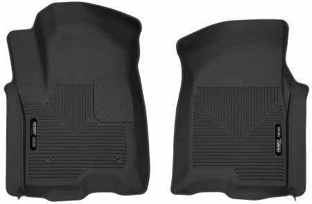 Husky Liners - Husky Liners 2019 Chevy Silverado 1500 Crew Cab X-Act Contour Front Black Floor Liners