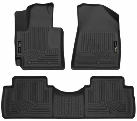 Husky Liners - Husky Liners 2016 Kia Soul Weatherbeater Black Front & 2nd Seat Floor Liners (Footwell Coverage)