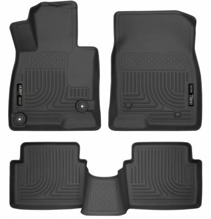 Husky Liners - Husky Liners WeatherBeater 14 Mazda 3 Hatch&Sedan Front & Second Row Black Floor Liners