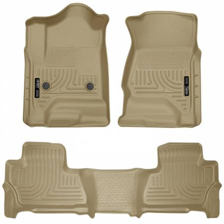Husky Liners - Husky Liners 2015 Chevy/GMC Suburban/Yukon XL WeatherBeater Combo Tan Front & 2nd Seat Floor Liners