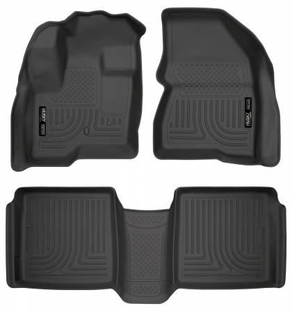 Husky Liners - Husky Liners 09-12 Ford Flex/10-12 Lincoln MKT WeatherBeater Combo Black Floor Liners