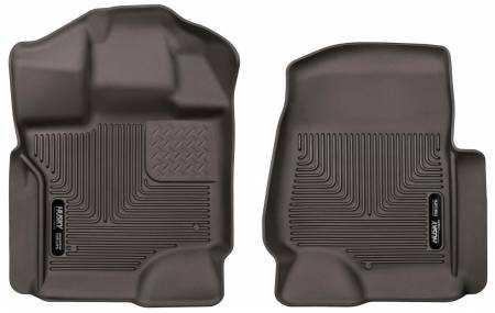 Husky Liners - Husky Liners 2017 Ford F-250 Suber Duty Crew Cab X-Act Contour Cocoa Front Floor Liners