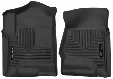 Husky Liners - Husky Liners 14 Chevrolet Silverado 1500 / GMC Sierra 1500 X-Act Contour Black Front Floor Liners