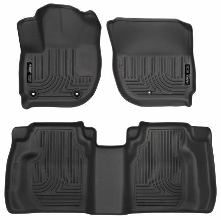 Husky Liners - Husky Liners 15 Honda Fit Weatherbeater Black Front and Second Seat Floor Liners