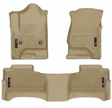 Husky Liners - Husky Liners 14 Chevrolet Silverado/GMC Sierra WeatherBeater Tan Front & 2nd Seat Floor Liners