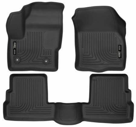 Husky Liners - Husky Liners 2015 Lincoln MKC WeatherBeater Black Front & Second Seat Floor Liner