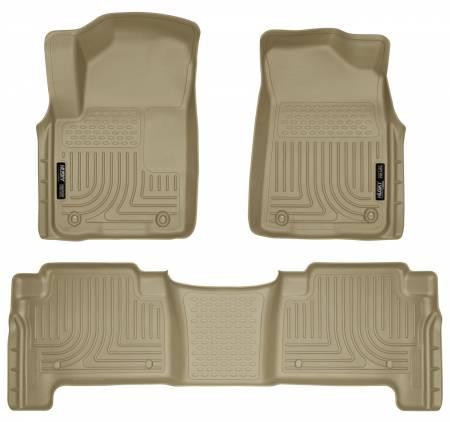 Husky Liners - Husky Liners 2011 Infiniti QX56 WeatherBeater Combo Tan Floor Liners