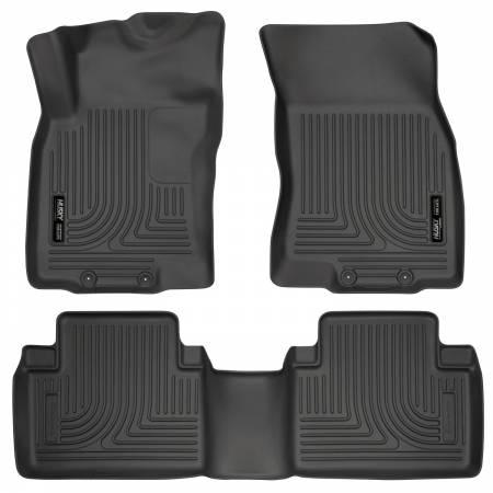 Husky Liners - Husky Liners WeatherBeater 14 Nissan Rogue Front & Second Row Black Floor Liners