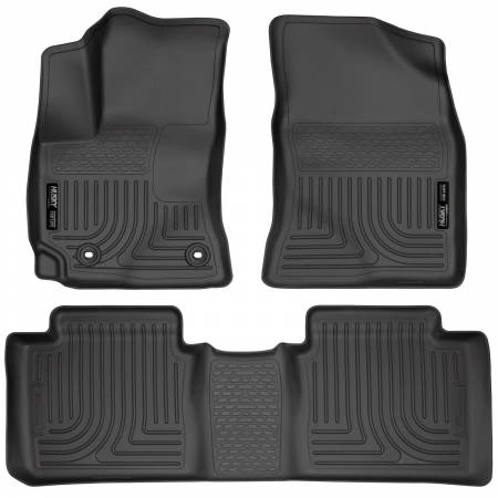 Husky Liners - Husky Liners 14 Toyota Corolla Weatherbeater Black Front & 2nd Seat Floor Liners